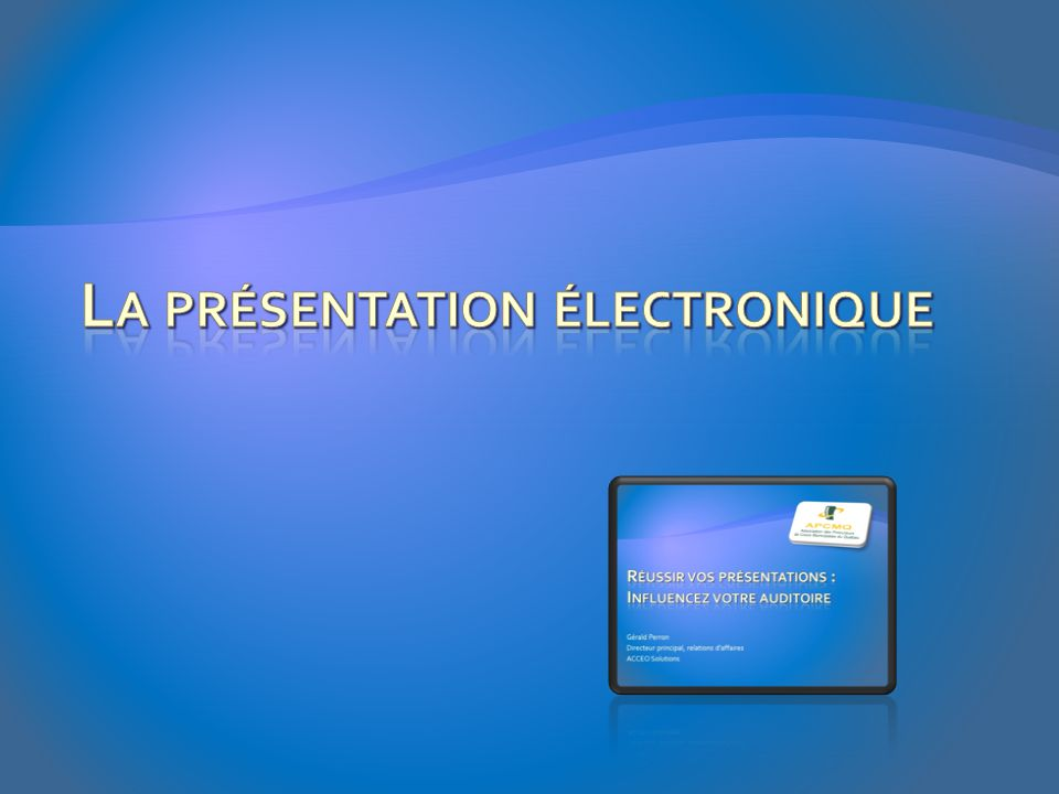 La présentation électronique