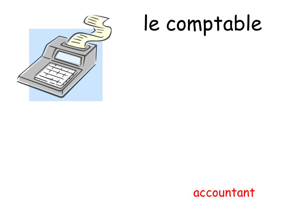 le comptable accountant