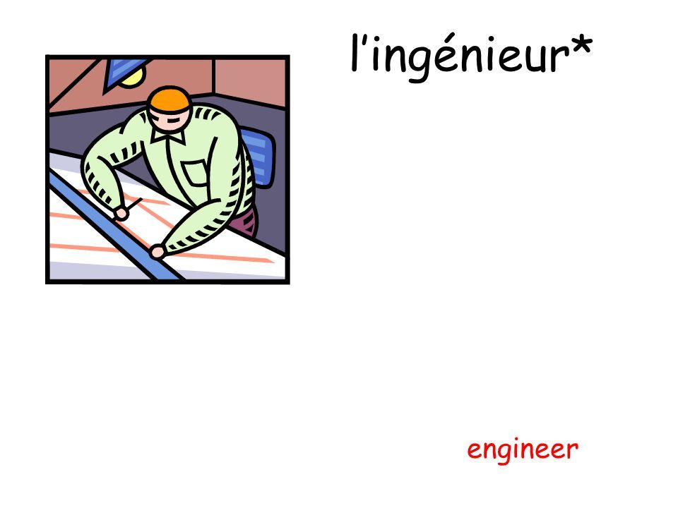l'ingénieur* engineer