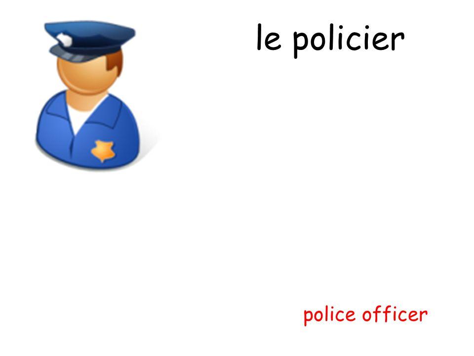 le policier police officer