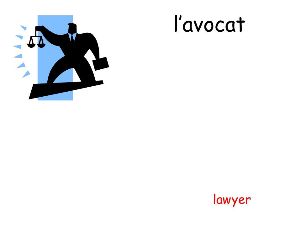 l'avocat lawyer