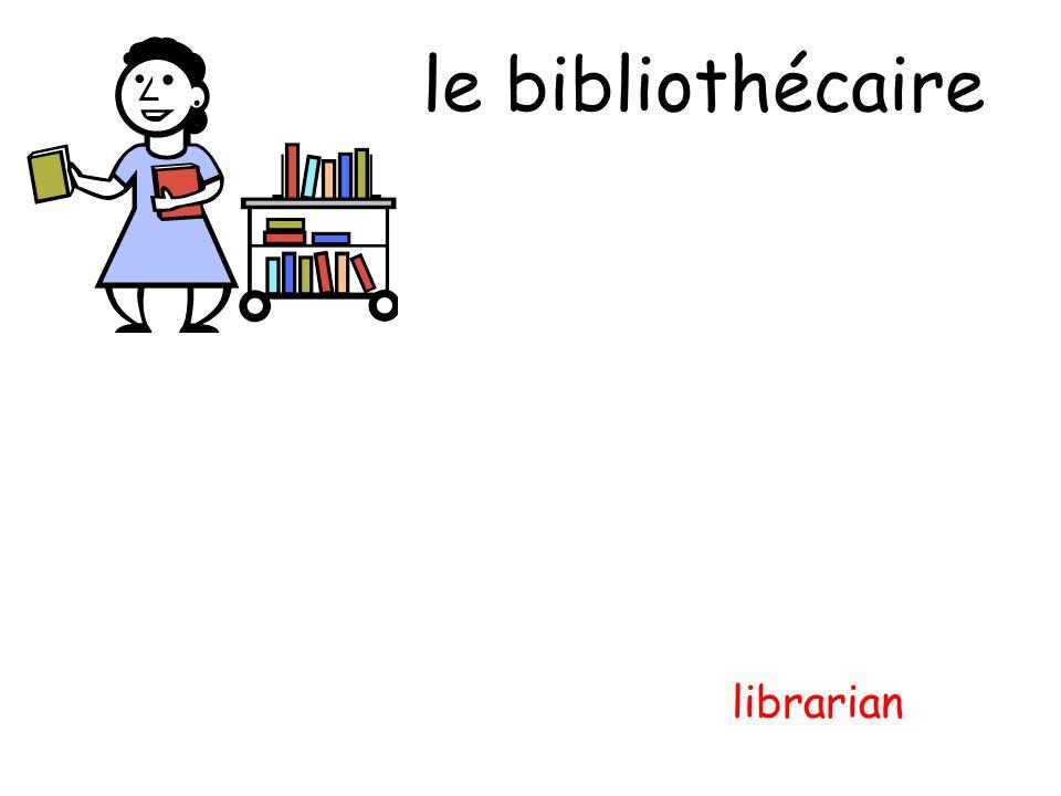 le bibliothécaire librarian