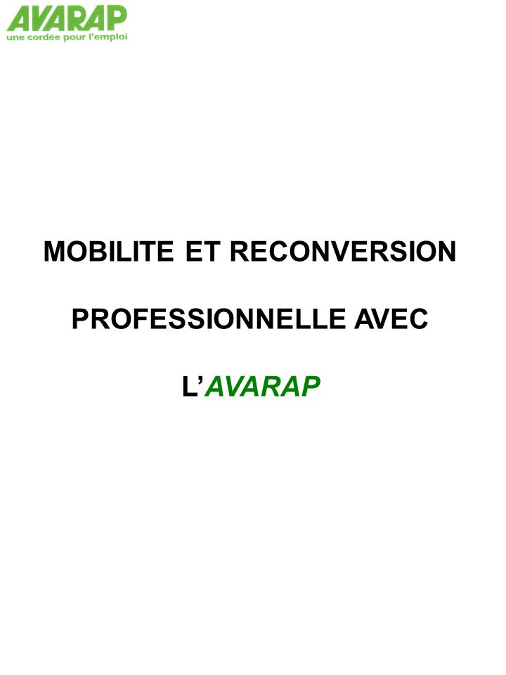 MOBILITE ET RECONVERSION
