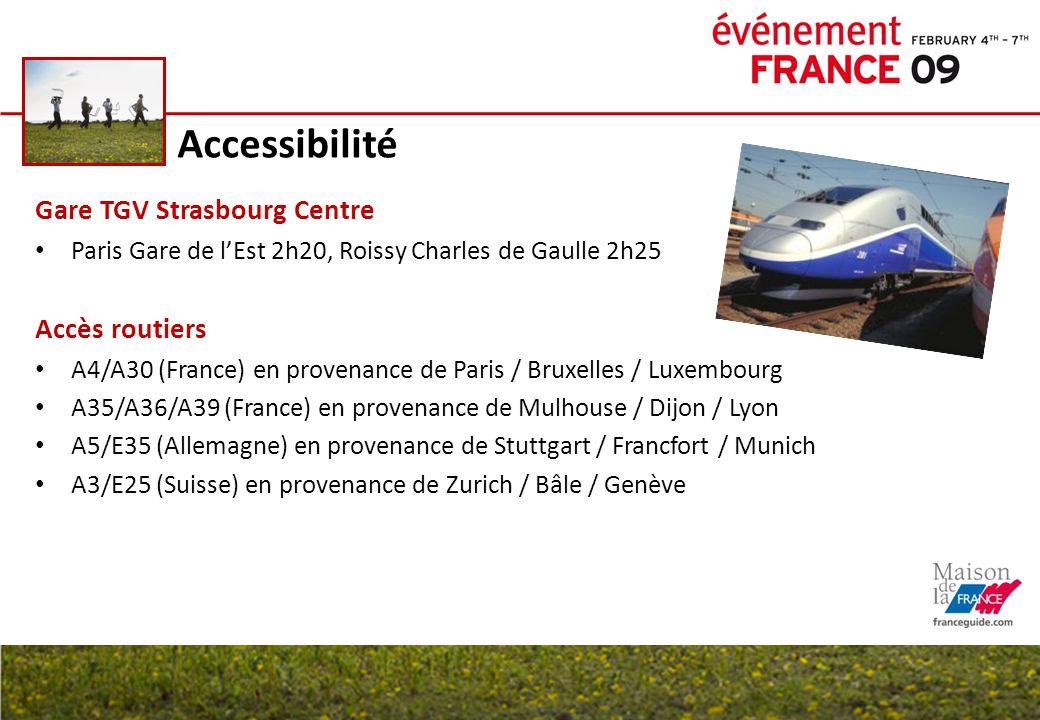 Accessibilité Gare TGV Strasbourg Centre Accès routiers