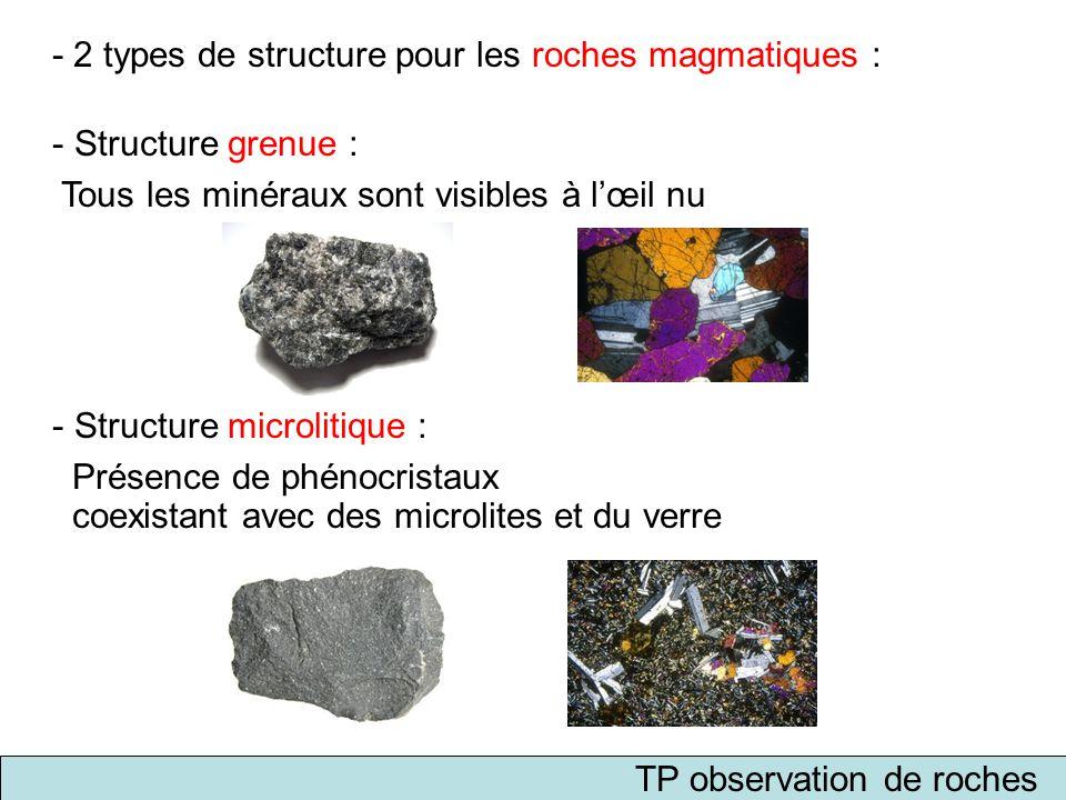 TP observation de roches
