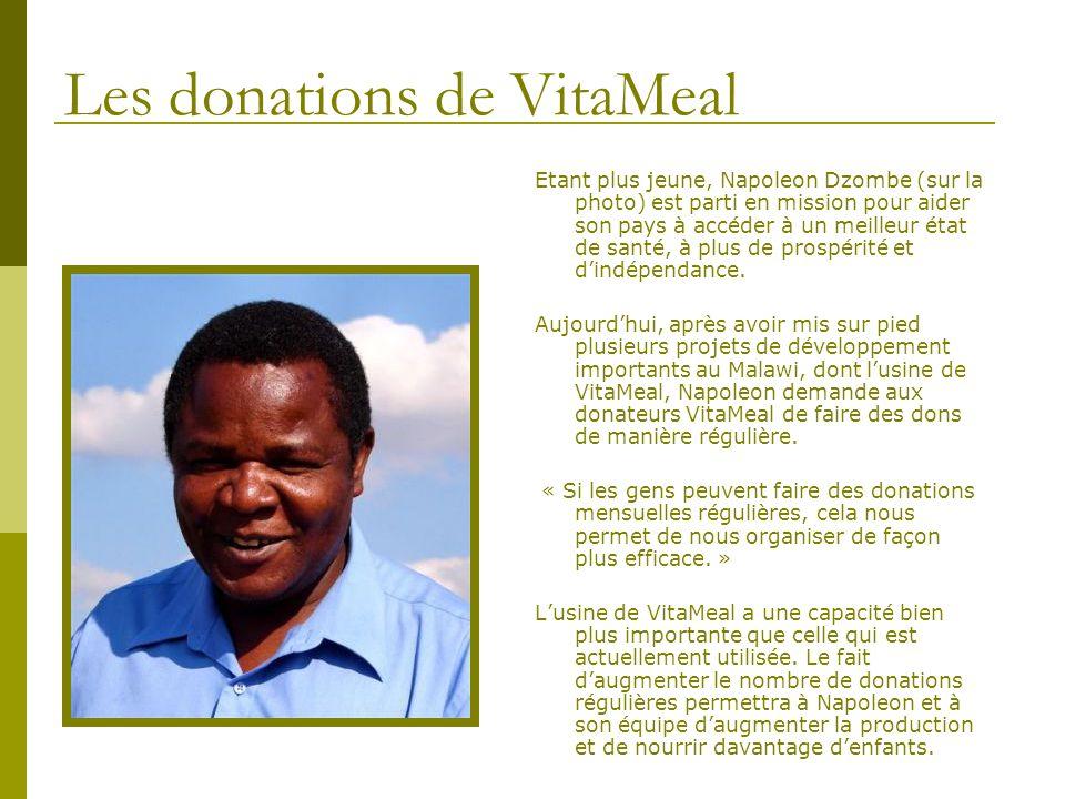 Les donations de VitaMeal