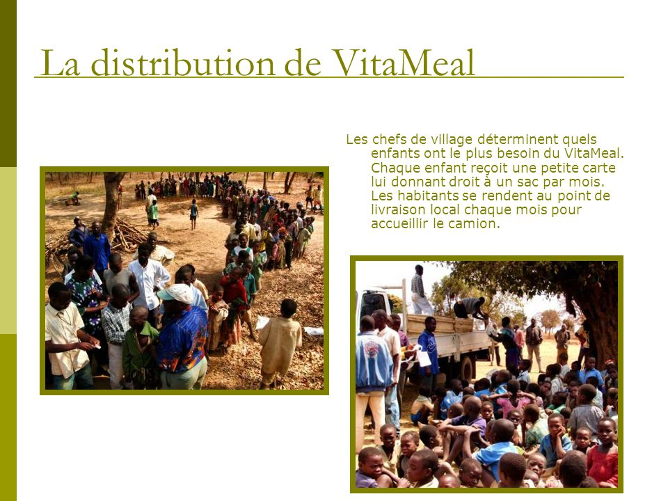 La distribution de VitaMeal
