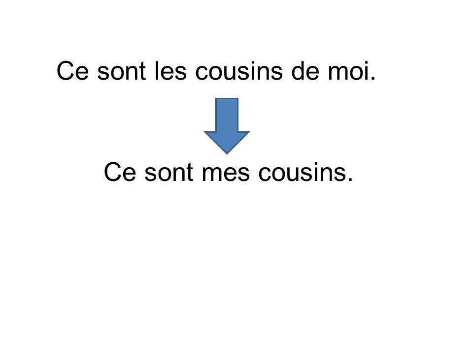 Ce sont les cousins de moi.