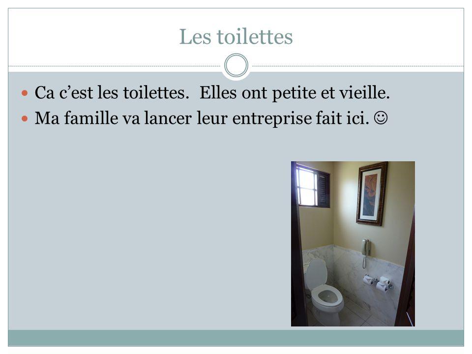 Les toilettes Ca c'est les toilettes. Elles ont petite et vieille.