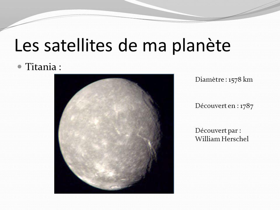 Les satellites de ma planète