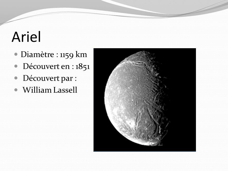 Ariel Diamètre : 1159 km Découvert en : 1851 Découvert par :