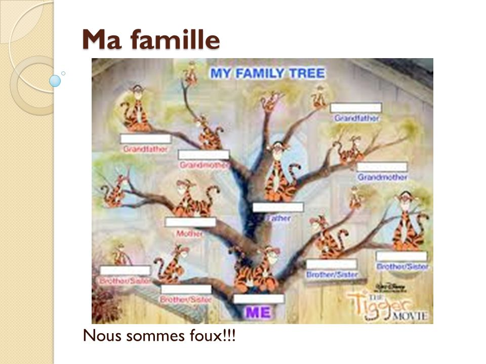 Ma famille Nous sommes foux!!!