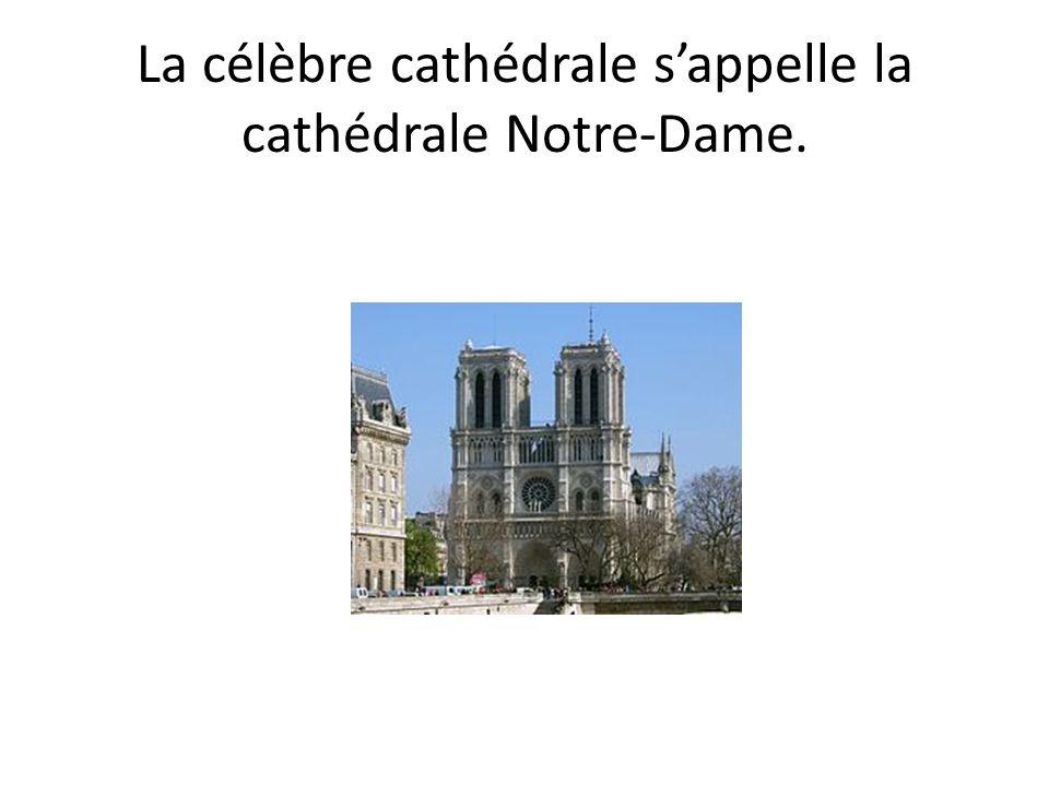 La célèbre cathédrale s'appelle la cathédrale Notre-Dame.