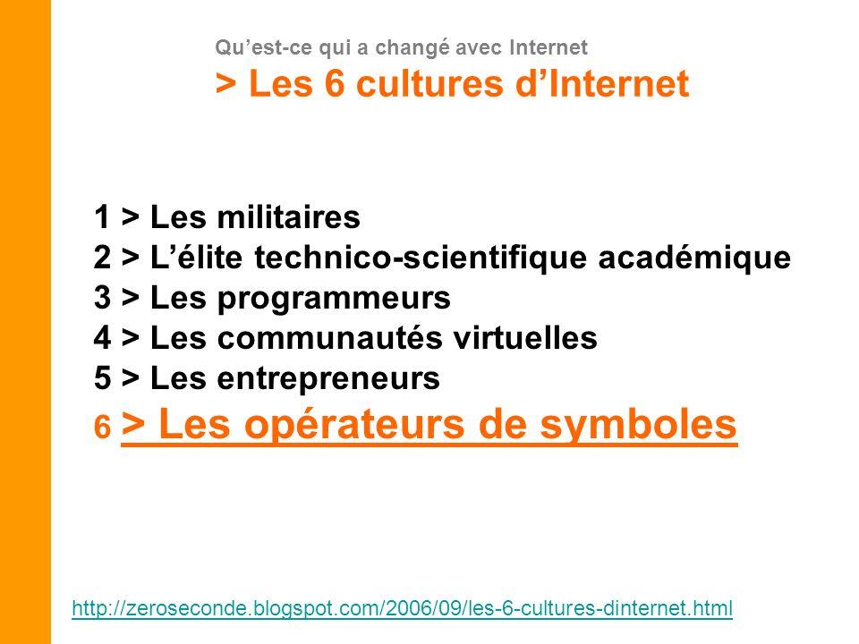 > Les 6 cultures d'Internet