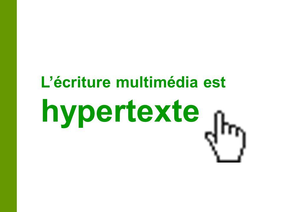 L'écriture multimédia est hypertexte