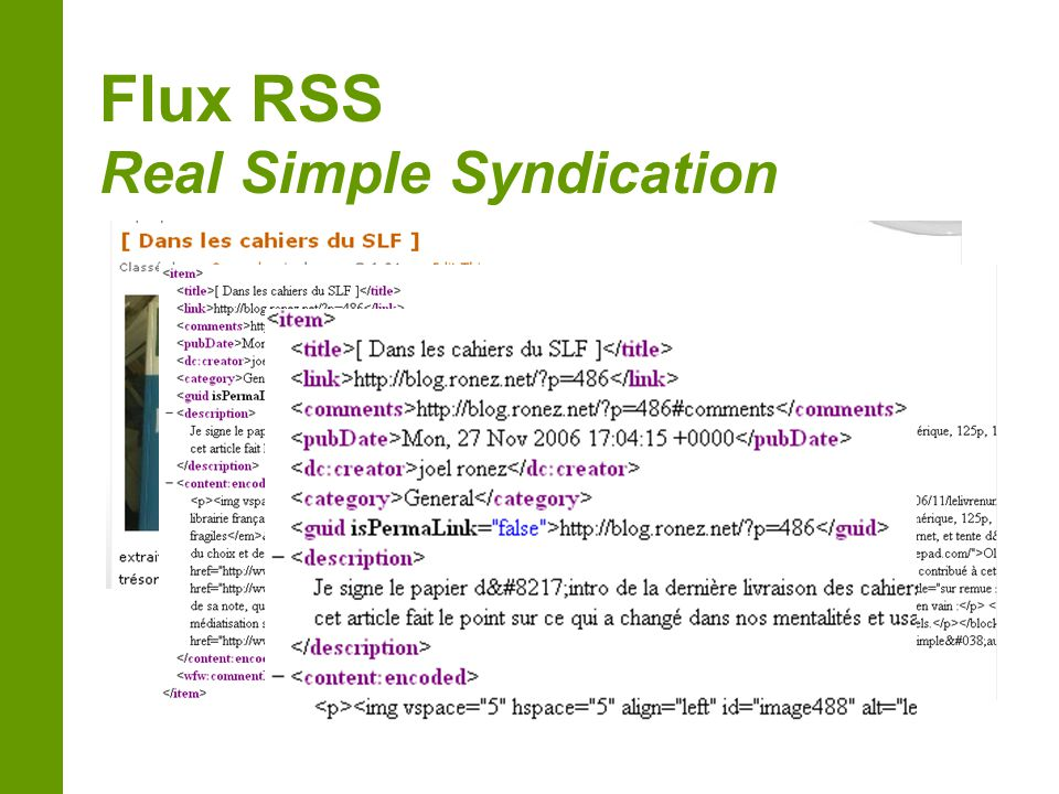 Flux RSS Real Simple Syndication