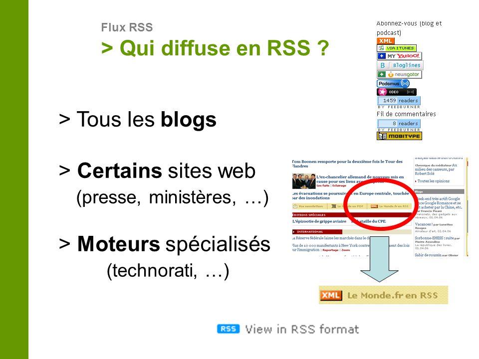 > Certains sites web (presse, ministères, …)