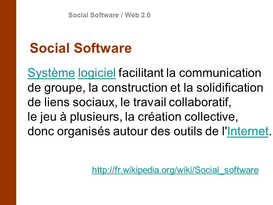 Social Software Système logiciel facilitant la communication