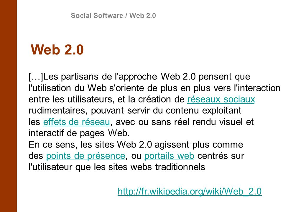 Social Software / Web 2.0 Web 2.0.