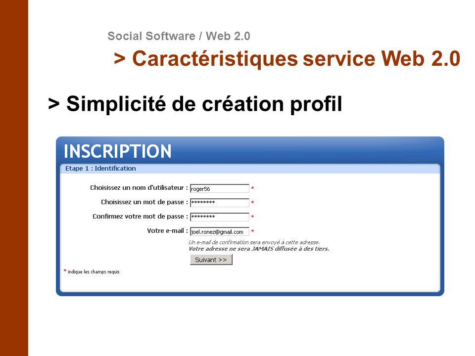 > Simplicité de création profil