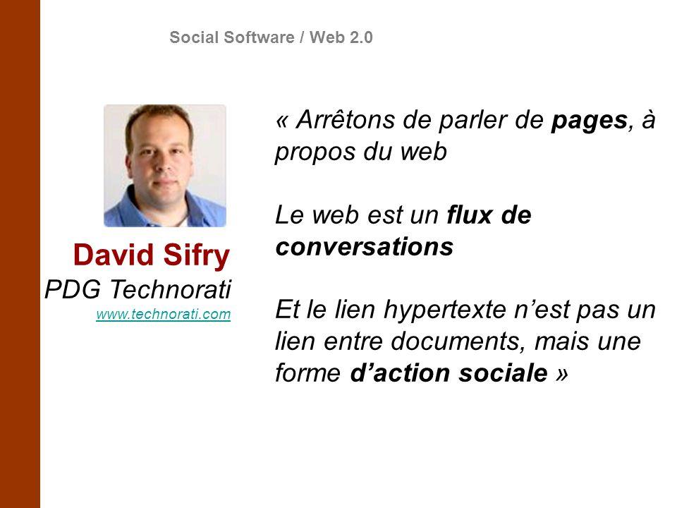 David Sifry « Arrêtons de parler de pages, à propos du web