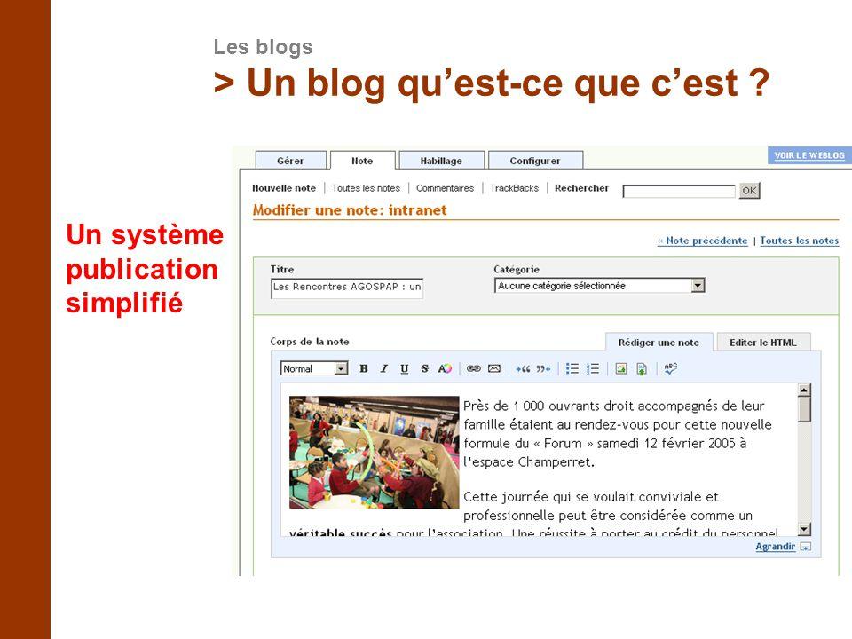 > Un blog qu'est-ce que c'est