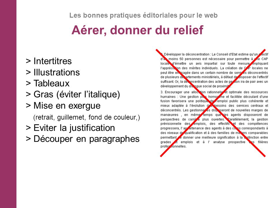 Aérer, donner du relief > Intertitres