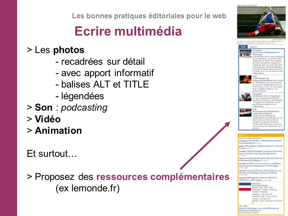 Les bonnes pratiques éditoriales pour le web