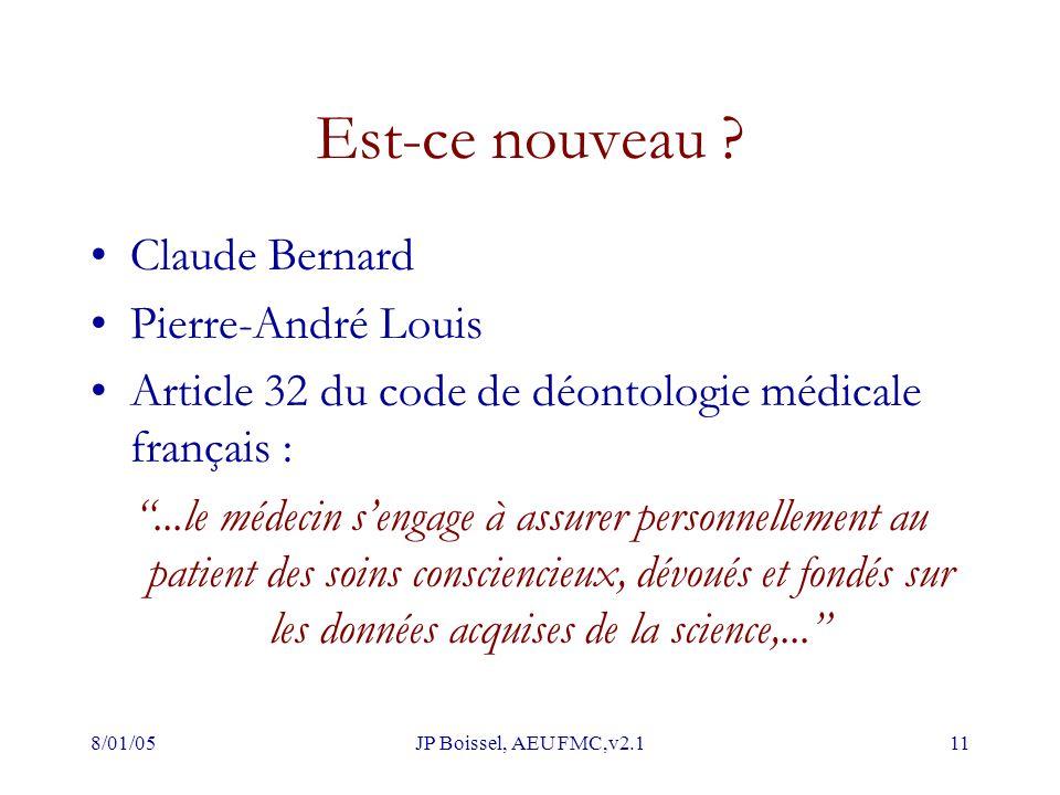 Est-ce nouveau Claude Bernard Pierre-André Louis