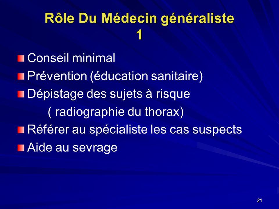 Rôle Du Médecin généraliste 1