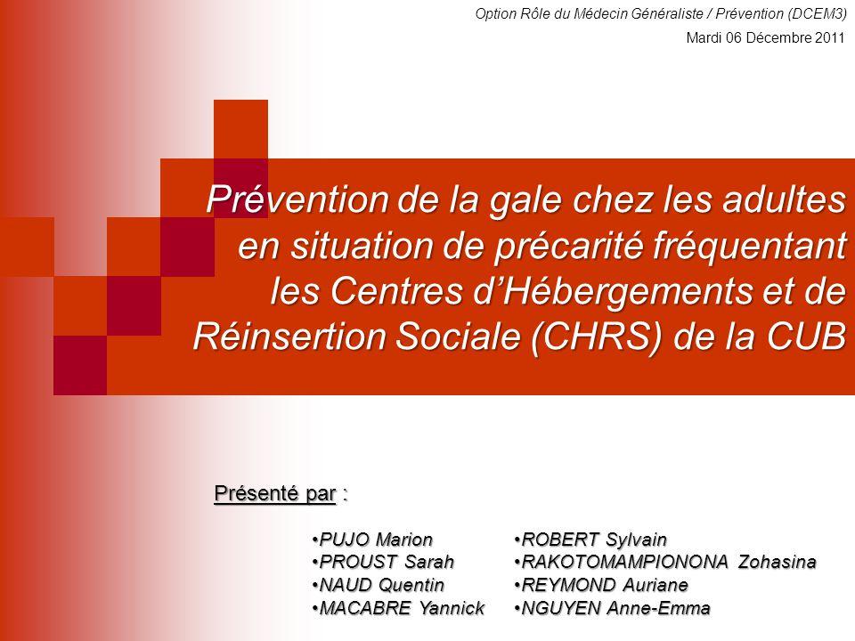 Option Rôle du Médecin Généraliste / Prévention (DCEM3)