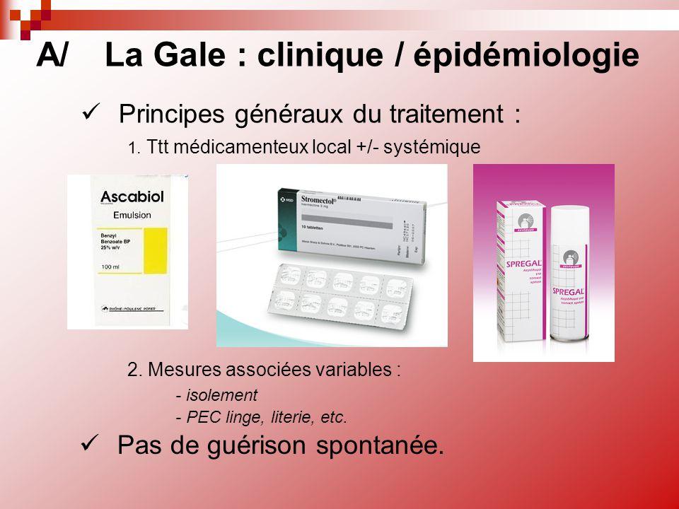 A/ La Gale : clinique / épidémiologie