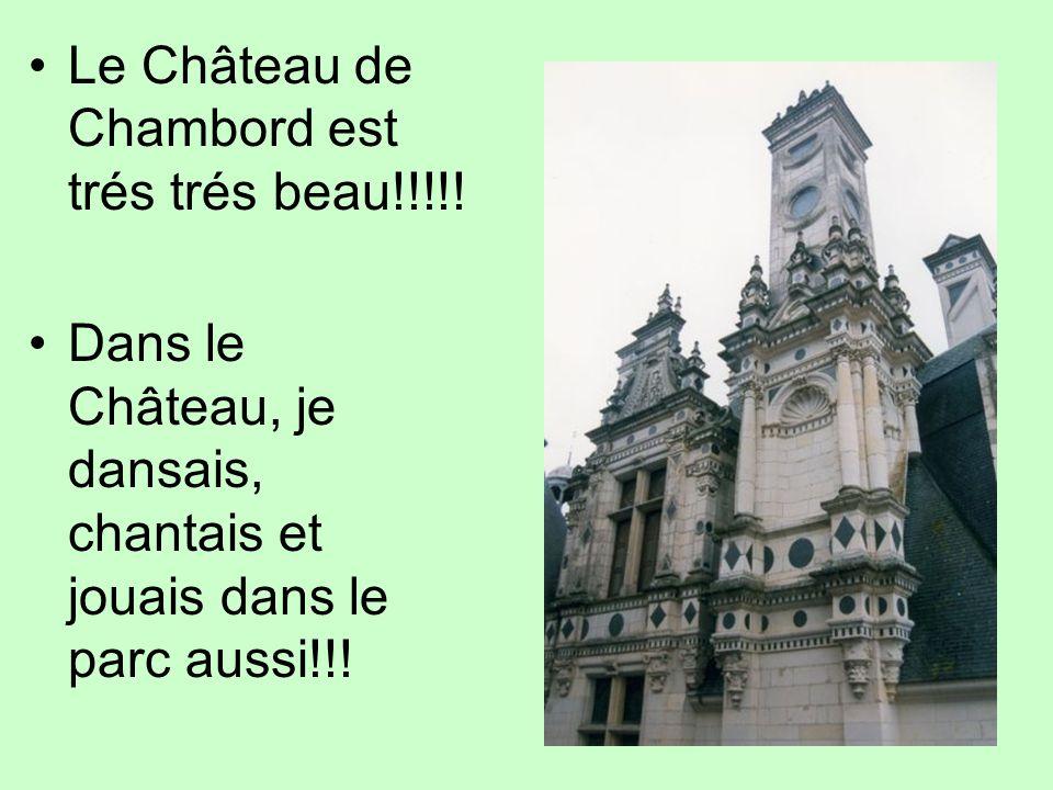 Le Château de Chambord est trés trés beau!!!!!