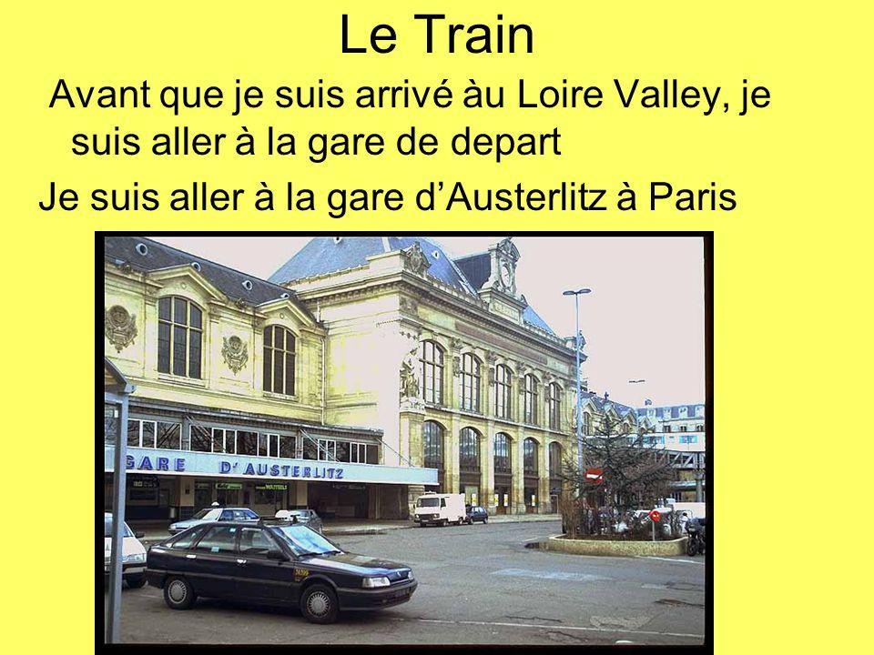 Le Train Avant que je suis arrivé àu Loire Valley, je suis aller à la gare de depart.