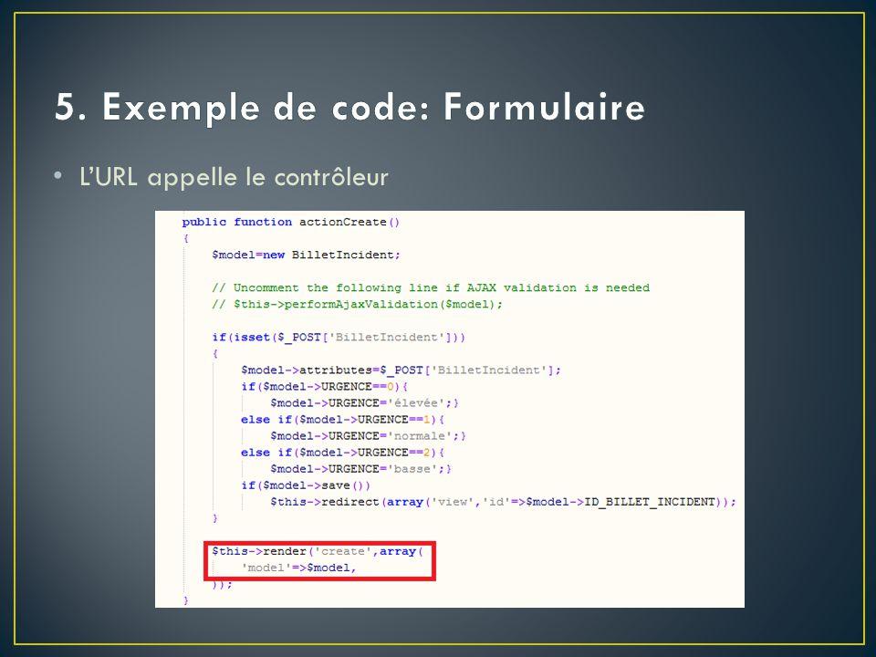 5. Exemple de code: Formulaire