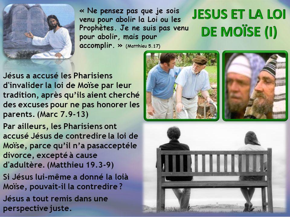 JESUS ET LA LOI DE MOÏSE (I)