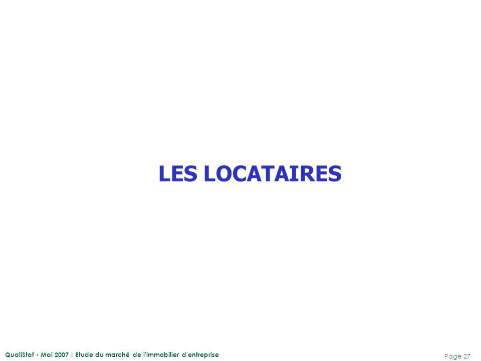 LES LOCATAIRES QualiStat - Mai 2007 : Etude du marché de l immobilier d entreprise