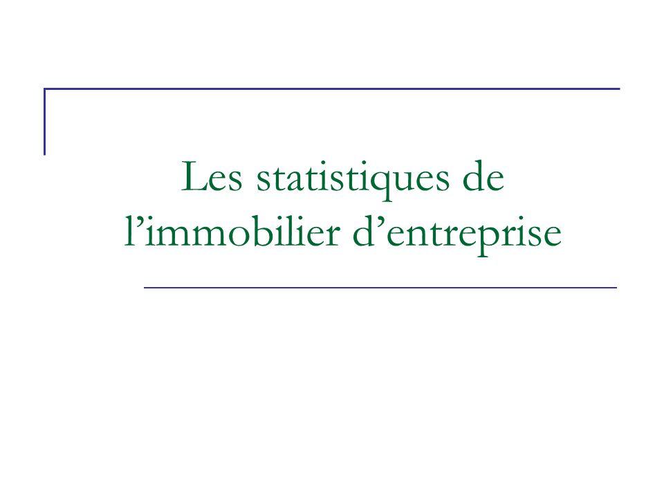 Les statistiques de l'immobilier d'entreprise