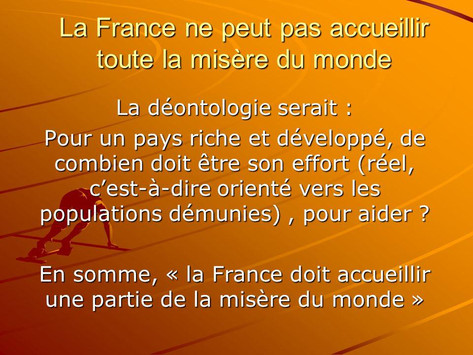 La France ne peut pas accueillir toute la misère du monde