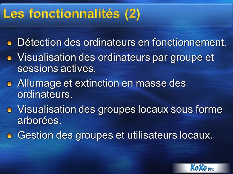 Les fonctionnalités (2)