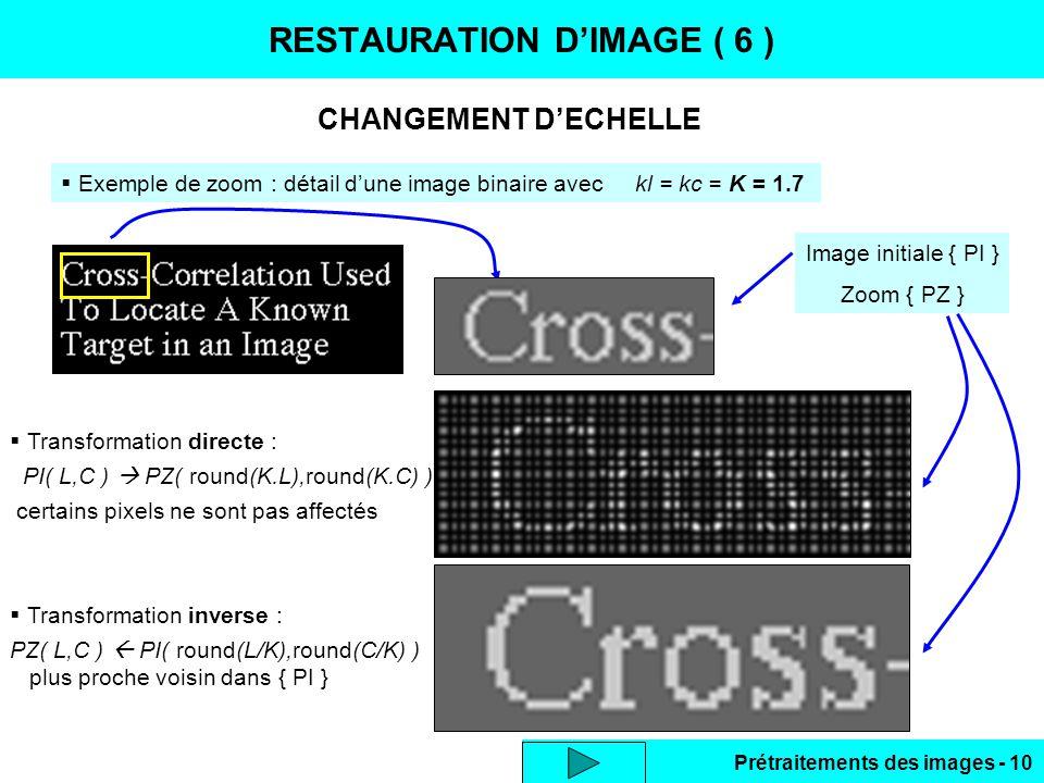 RESTAURATION D'IMAGE ( 6 )