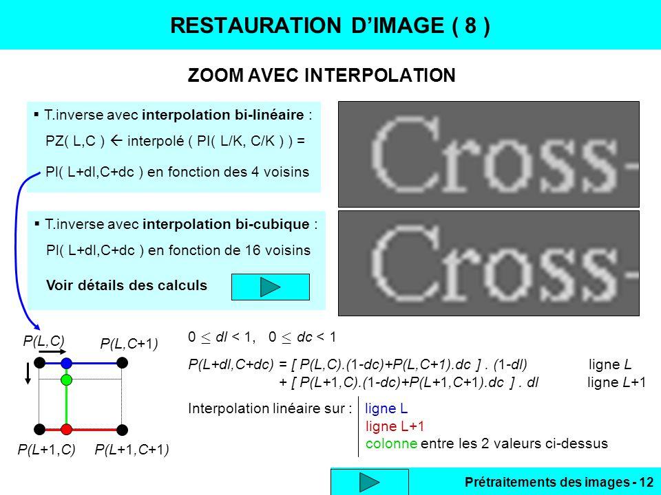 RESTAURATION D'IMAGE ( 8 )