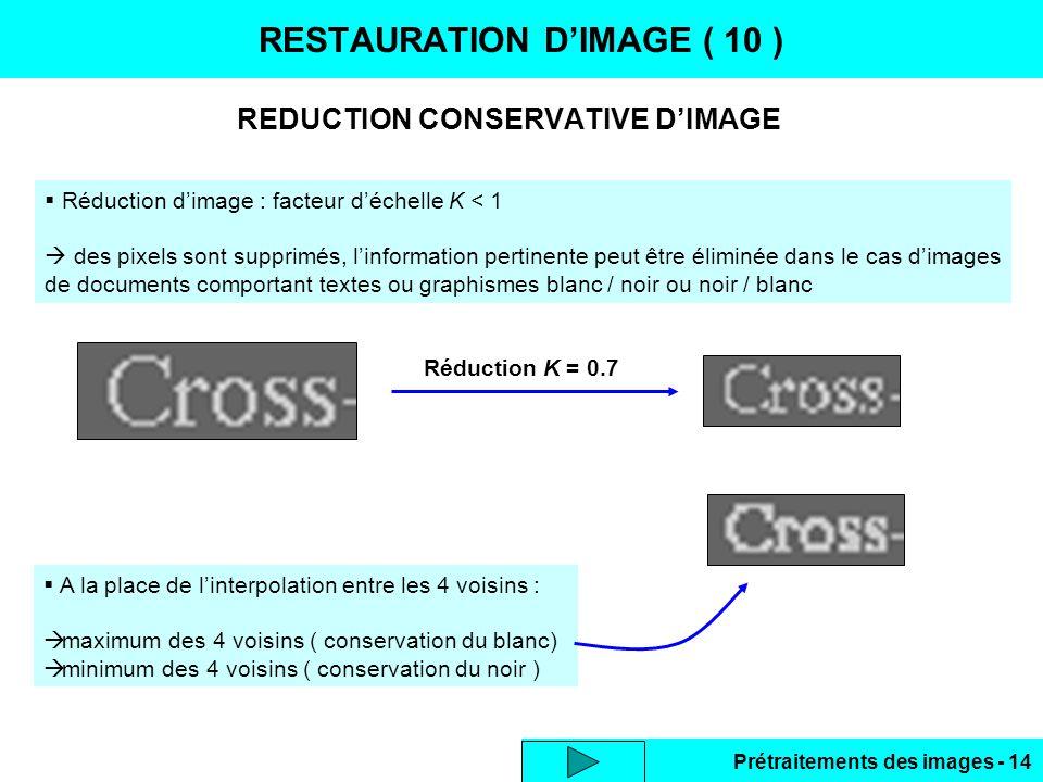 RESTAURATION D'IMAGE ( 10 )