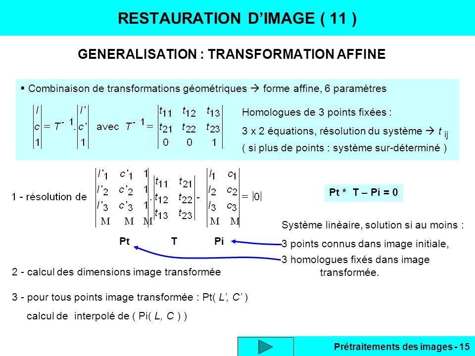 RESTAURATION D'IMAGE ( 11 )