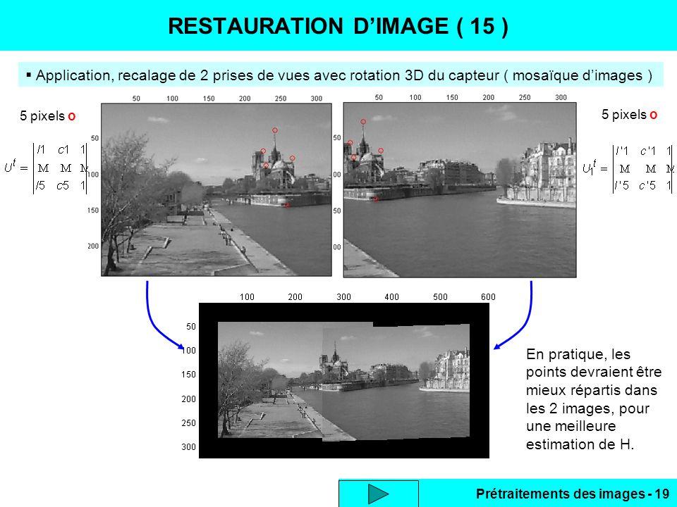 RESTAURATION D'IMAGE ( 15 )