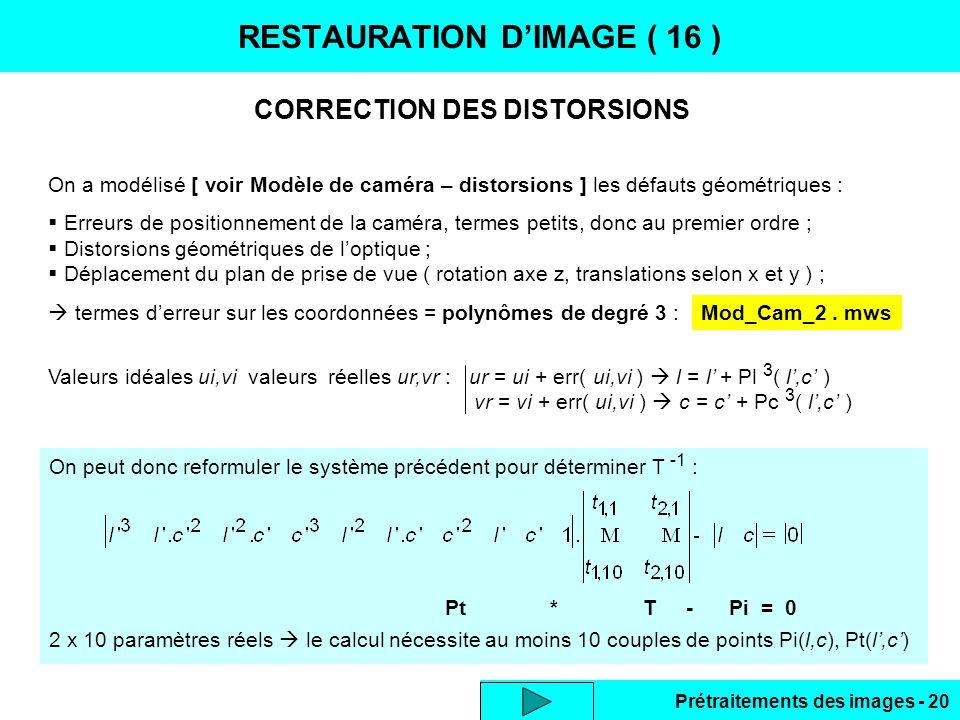 RESTAURATION D'IMAGE ( 16 )