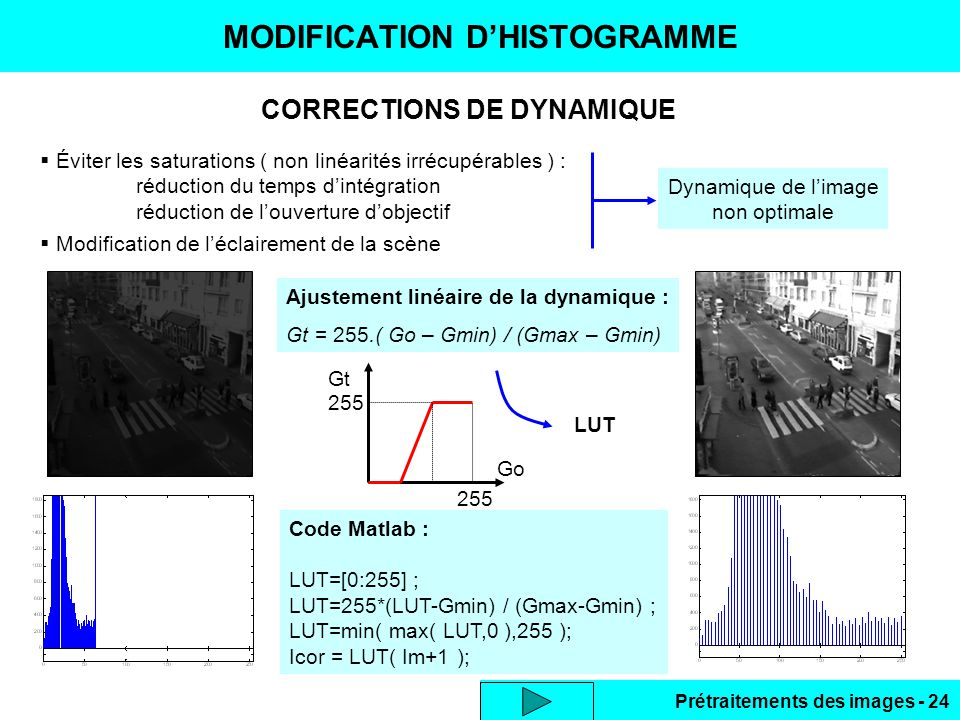 MODIFICATION D'HISTOGRAMME
