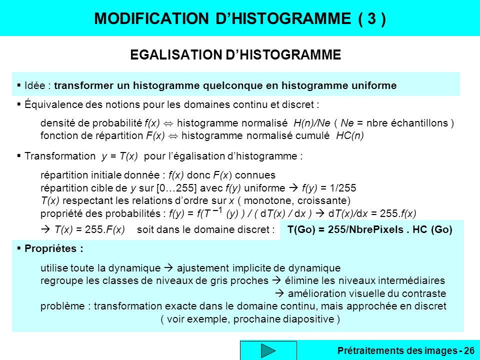 MODIFICATION D'HISTOGRAMME ( 3 )