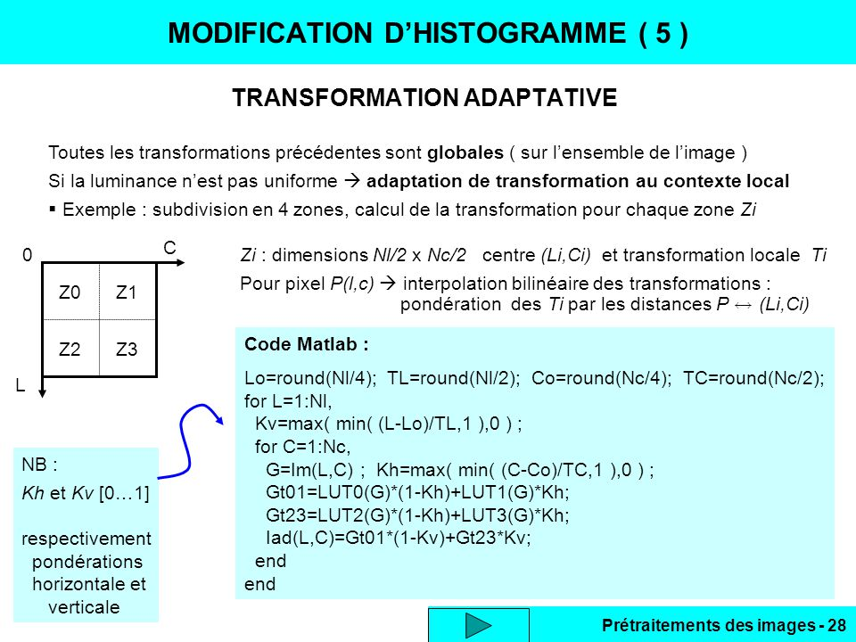 MODIFICATION D'HISTOGRAMME ( 5 )