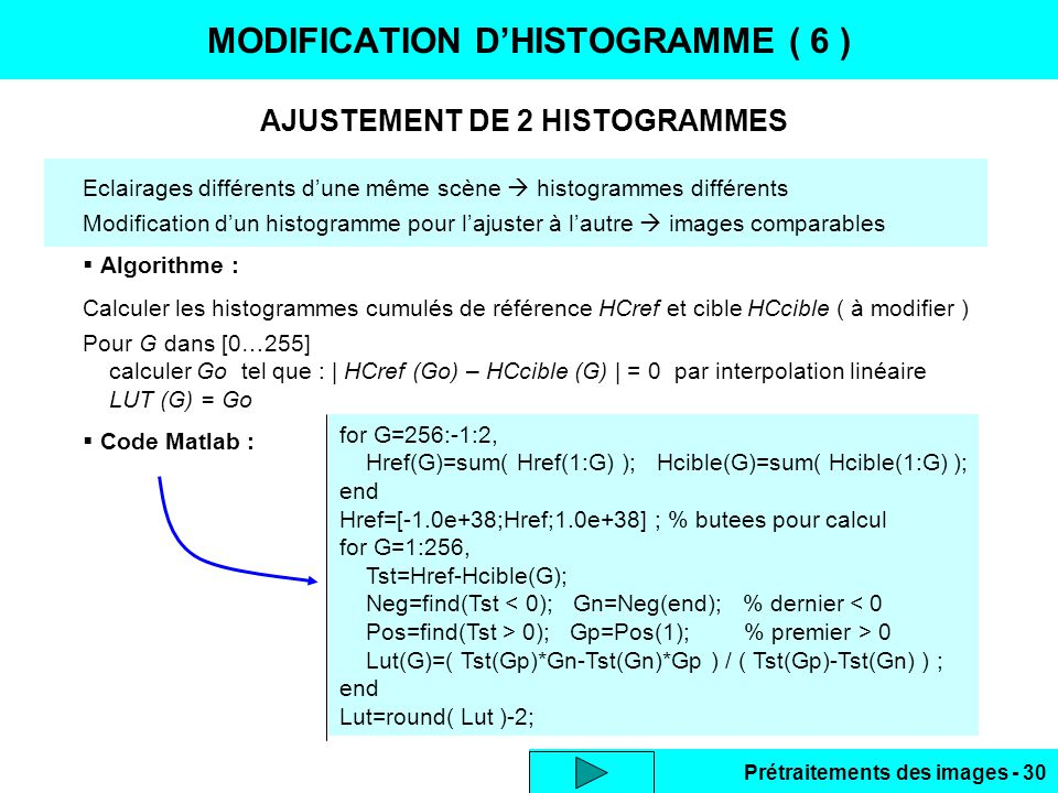 MODIFICATION D'HISTOGRAMME ( 6 )